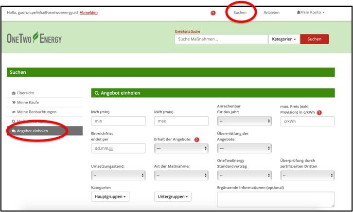 Screenshot-Suchen